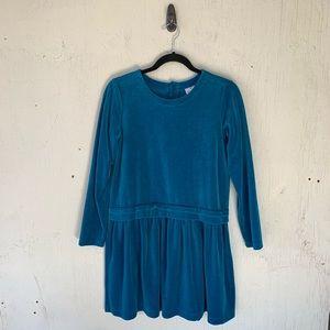 Hanna Andersson Blue Super Twirl Velour Dress